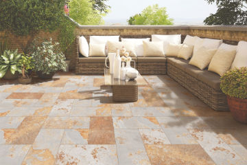 Patio and landscaping